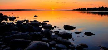 Midnight sun Stock Photo