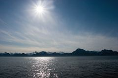 Midnight sun in Alaska Stock Photography