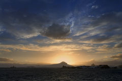 Midnight Sun - Antarctica Royalty Free Stock Photo