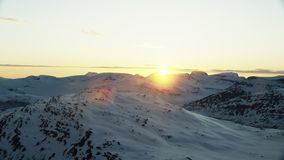 The midnight sun in the arctic. North stock footage