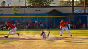 Midnight Sun Baseball Game Stock Image