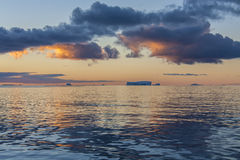 Midnight Sun - Drake Passage - Antarctica Royalty Free Stock Photography