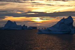 Midnight Sun - Greenland Stock Image