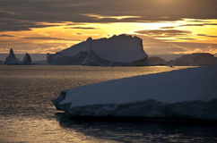 Midnight Sun - Greenland Stock Photo