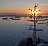 Midnight Sun - Greenland Stock Photos