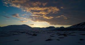 Midnight Sun Light Royalty Free Stock Photo