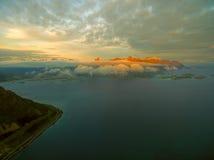 Midnight sun on Lofoten Royalty Free Stock Photo