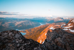 Midnight sun in Narvik Royalty Free Stock Images