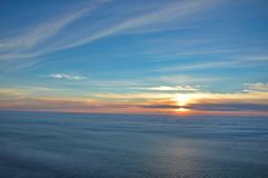 Midnight sun at Nordkapp royalty free stock photo