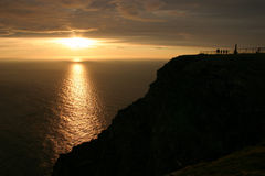 Midnight Sun at the North Cape #1. The Famous North Cape in Norway ad midnight (nordkapp Stock Images