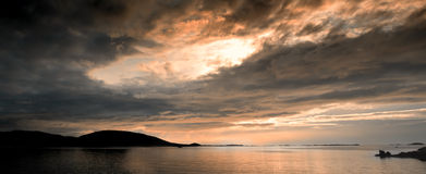 Midnight sun in Norway Royalty Free Stock Image