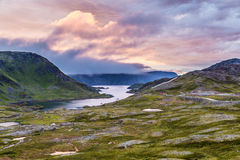Midnight sun in Norway Stock Images