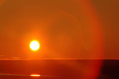 Midnight sun during the polar day. August, Arctic Stock Photography