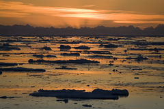 Midnight Sun - Svalbard in the High Arctic Stock Image