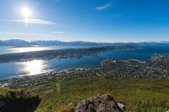 Midnight Sun in Tromso, Norway. Stock Photography