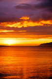 Midnight sunset in Iceland royalty free stock photography
