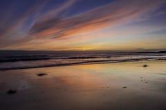 Midnight sunset Stock Photos