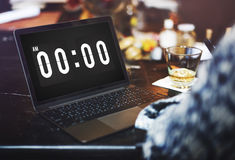 Midnight Time Tomorrow Timing Concept Royalty Free Stock Photo