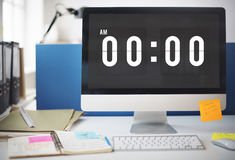 Midnight Time Tomorrow Timing Concept. Midnight Time Tomorrow Office Time stock photos