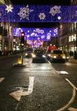 midnight trafik Arkivbild