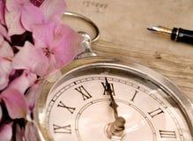 Midnigt en un reloj Imágenes de archivo libres de regalías