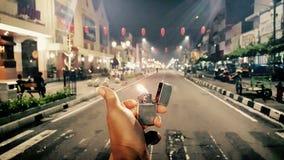 Midnite Zippo стоковая фотография rf