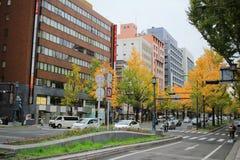 Mido-suj streeti of fall season Stock Images