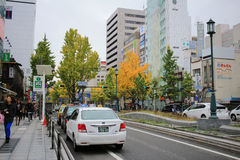 Mido-suj streeti of fall season Royalty Free Stock Photo