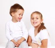 Miúdos bonitos Imagem de Stock Royalty Free