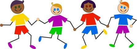 Miúdos coloridos Imagem de Stock