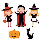 Miúdos de Halloween Fotografia de Stock Royalty Free