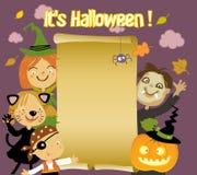 Miúdos de Halloween Fotos de Stock