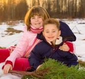 Miúdos do Natal Fotos de Stock Royalty Free