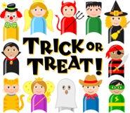 Miúdos do traje de Halloween Imagem de Stock Royalty Free