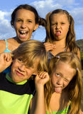 Miúdos engraçados Foto de Stock