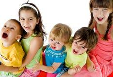 Miúdos felizes do grupo Fotos de Stock