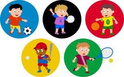 Miúdos olímpicos Fotos de Stock Royalty Free