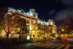 Midosujistraat met nacht lichte verlichting royalty-vrije stock afbeelding