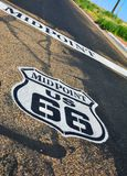 Midpoint in the historic Route 66. Stock Photo