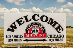 Midpoint of Route 66 Royalty Free Stock Image