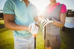 Midsection пар игрока в гольф Стоковые Изображения RF