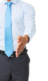 Midsection Of Businessman Gesturing Handshake Royalty Free Stock Image