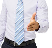 Midsection Of Businessman Offering Handshake Stock Photos