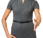 Midsection Of Businesswoman Gesturing Handshake Stock Photography