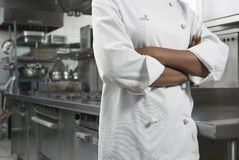 Midsection Of Chef With Arms Crossed Stock Images