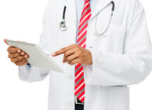 Midsection Of Doctor Using Digital Tablet Royalty Free Stock Image