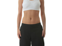 Midsection of a physically fit young woman Stock Photography
