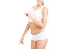Midsection of a sexy woman Stock Photo