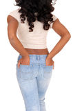 Midsection of woman from back. Royalty Free Stock Photography