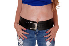 Midsection of woman. Stock Image